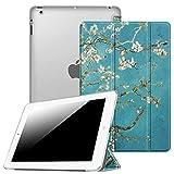 Fintie iPad 2 / 3 / 4 Hülle - Ultradünne Superleicht Schutzhülle mit transparenter Rückseite Abdeckung Cover mit Auto Schlaf / Wach Funktion für Apple iPad 2 / iPad 3 / iPad 4 Retina, Mandelblüten