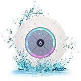 Elitehood Bluetooth Lautsprecher Dusche Mini Kabelloser Lautsprecher Wasserdicht Spritzwassergeschuetzt Tragbare FM Radio Integriertes Mikrofon Freisprecheinrichtung mit Saugnapf (Weiß)
