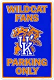 Universität von Kentucky Wildcats herstellen Fans Parking Only Blechschild NCAA