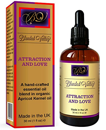 Blended Valley Love Oil - Oil Love and Attraction - Humidifier Essential Oils, Incense Burner or Aroma Diffuser - Aphrodisiac Perfume Promotes Relaxation and Passion.