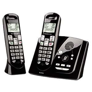 Sagemcom D35V Duo Téléphone sans fil DECT/GAP avec répondeur Noir