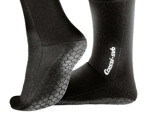 Cressi-Metallite Socks 5mm, Couleur Noir, Taille EU 40-42