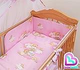 3-teiliges Bettwäsche-Set für Babybett Regular Bumper 140x 70cm–Muster 5