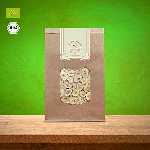süssundclever.de | Bio Bananenchips, ungesüßt | 1 kg (2 x 500 g) | mit Kokosöl verfeinert | hochwertiges Naturprodukt | plastikfrei und ökologisch-nachhaltig abgepackt