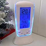 Mantavya Digital Alarm Temperature Calender Table Desk Clock with LCD Display and Back Light Alarm Clocks for Bedroom,Alarm Clock Digital,Alarm Clock for Students,Table Clock with Alarm