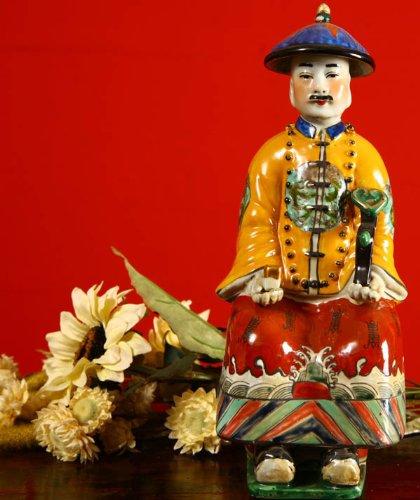 Chinesischer Porzellan Kaiser - Chinesische Porzellan Figuren