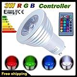 THG 4x GU10 3W RGB 16 Bunt LED Spot Birne Farbwechsel Lampe Licht mit IR Fernbedienung