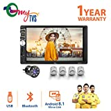 myTVS TAV-40 Double Din HD Touch Screen Car Stereo Media Player with Bluetooth/USB/MP5/MP3 & Mirror Link+8 LED Reverse Parking Camera+ Silver Reverse Parking Sensor Kit for Ford Figo Aspire