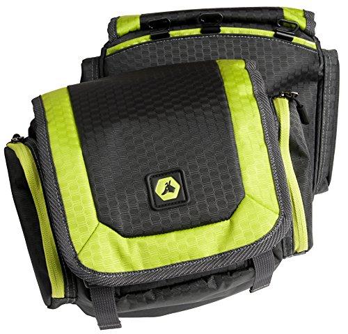 EQdog 150-436 Flex Pack Packtaschen für Hunderucksack, M, grau/grün