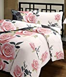 #3: Renown Beautiful Peach Floral Design Reversible Double Bed Quilt / AC Blanket / Dohar ( Pack Of 1 Pc )