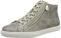 Rieker Damen L0936 High-Top Grau (Grey / 41) 38 EU