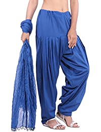 Jaipur Kurti Pure Cotton Patiala Salwar And Dupatta Set (Royal Blue)