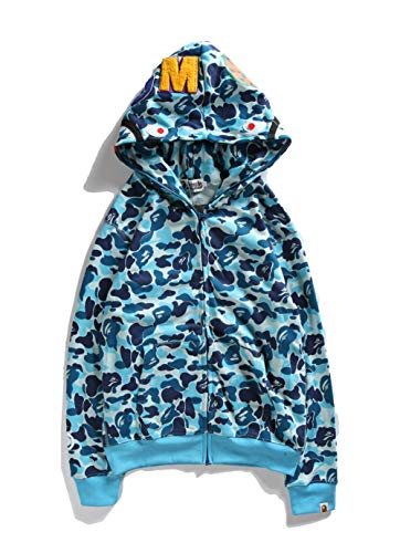 ZDFGHW434 bape Hoodie camo Shark|BAPE CAMO Shark Couple Men Women Camouflage Shark Hooded Sweater Girls Boys - Bape Camo Hoodie