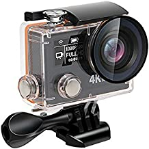 Daping Action Camera 4K HD Wi-Fi Sony Sensor avec 2.4G remote 2 Batteries Accessories Kit Dual écran 170° Grand Angle 1080P 14MP Electronic Image Stabilization Fonction