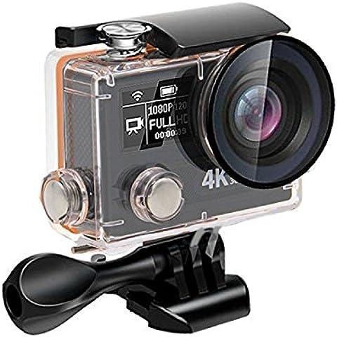 Action camera 4k Panasonic MN34110 + Ambarella A12S75, WIFI Full HD 1080P 12MP Impermeabile, Sport Camera 170 ° Grandangolare 2.0