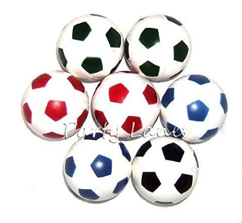10 x Bouncy Footballs - Boys Party Bag Fillers