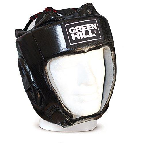 Casco da boxe Amateur Pugilato Green Hill Boxing Head guard caschetto aperto (L)