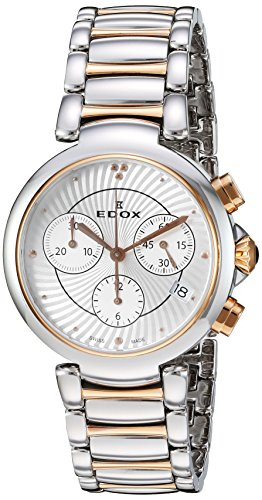 Edox Women's La Passion 35mm Steel Case Swiss Quartz Watch 10220 357RM AIR
