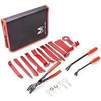 Mictuning Auto Demontage Werkzeuge Zierleistenkeile-Set, Hochwertig Türverkleidungs-Lösewerkzeug Universal Auto Trim Werkzeuge Set mit Tasche-19pcs