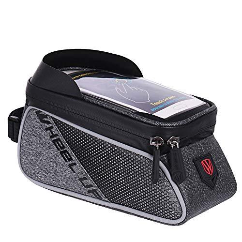 JKLP Fahrrad gechartert Fronttasche, Outdoor wasserdichte tragbare fahrradtasche Rack gepäck frontstrahl Tasche Rohr Tasche -