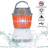 Qimaoo Lámpara Antimosquitos, Mata Mosquitos Eléctrico, Camping Mosquito Lamp para Contrar Mosquitos, Moscas, Polillas, Zancudos y Más Insectos, con Luz Ultravioleta USB LED, Sin Químicos