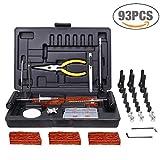Kit per Riparazione Pneumatici, TECCPO Professional 93 Pezzi, Kit...