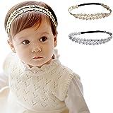 FEITONG Diamante de imitación Venda Banda para el cabello Bebé Chicas Flores bandas para la cabeza Cabello Accesorios
