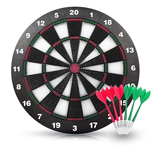 Xinfang Soft Tip Safety Darts und Dart Board - Großartige Spiele für Kinder - Freizeit Sport für Office Soft Dart Darts für Kinder und Erwachsene (Set)