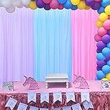 HBBMAGIC Tulle Photo Background/Tenda, Sfondo fotografico colorato/Decorazione per feste per studio fotografico, Natale, Compleanno, Matrimonio, Baby shower, Unicorn Party, Carnevale(2.5m*1.5m)