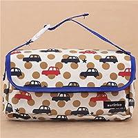 beige-blaue Auto und Punkte Design Auto Taschentuch Tasche Decole Japan