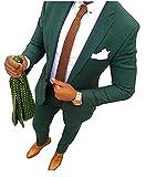Aokaixi - Traje - para Hombre Verde Verde 56EU - Chaqueta,50ES - Pantalones