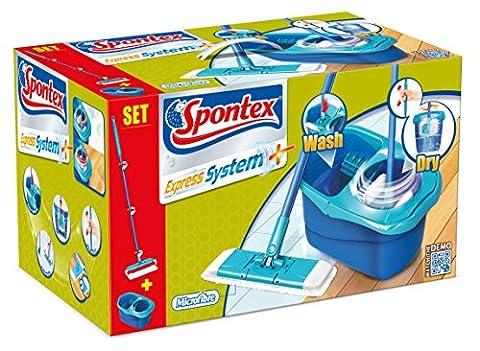 Spontex - Express System + - Set balai plat & seau essoreur