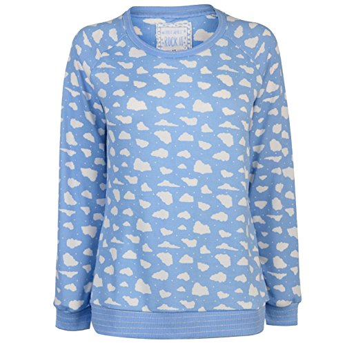 Rock And Rags Donna Coste Maglia Stampa Blu