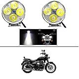 #9: AutoSun 4 Led Small Circle Motorcycle Light Bike Fog Lamp Light - 2 Pc Royal Enfield Thunderbird 350