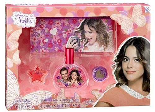 Disney Violetta / Geschenk-Set: Eau de Toilette (Parfum) 30ml + Kosmetiktasche + Lipgloss + Lidschatten - für Kinder