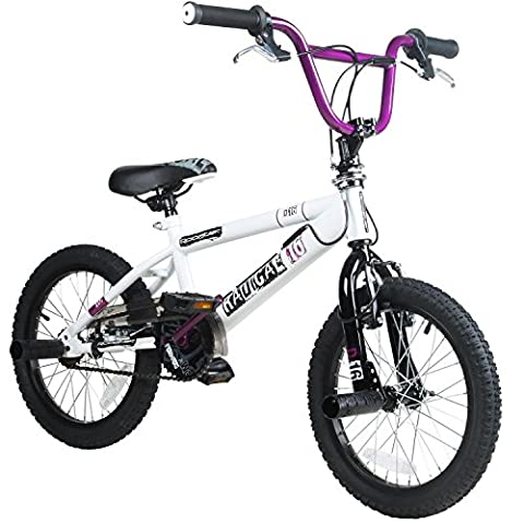 "16 ""BMX Rooster Radical avec rotor et Pegs, lilas"