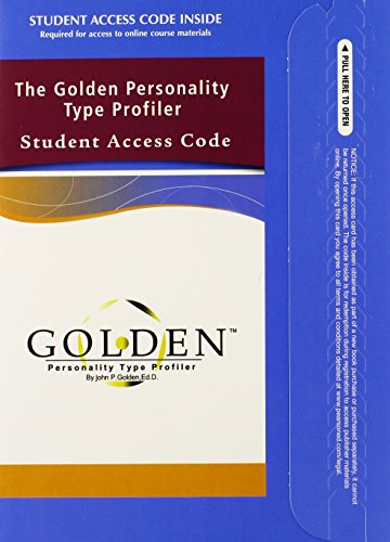 The Golden Personality Type Profiler Student Access Code -