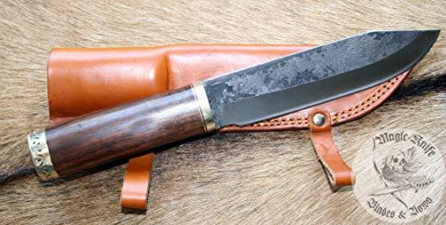 1/3/8 Schweres Handgeschmiedetes Kelten Sax Wikinger Bowie Messer m. Lederscheide