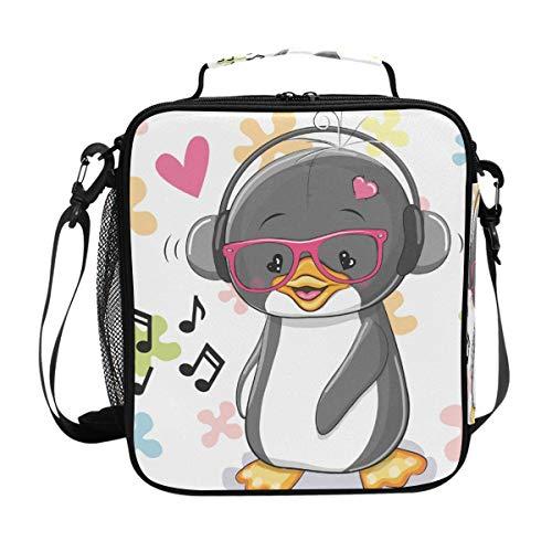 Malpela Kühltasche für Haustiere, Pinguin, Singen, isoliert, Lunchbox - Lunch-box Pinguin