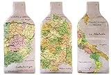 Kenley Wine proteggi bottiglie da viaggio–Set regalo di 3borse riutilizzabili–a tenuta stagna, pluriball, imbottitura a tripla protezione–Accessori per vino, proteggi bottiglia da viaggio, picnic, bagaglio