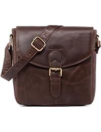 LEABAGS Bradford sac bandoulière rétro-vintage en véritable cuir de buffle