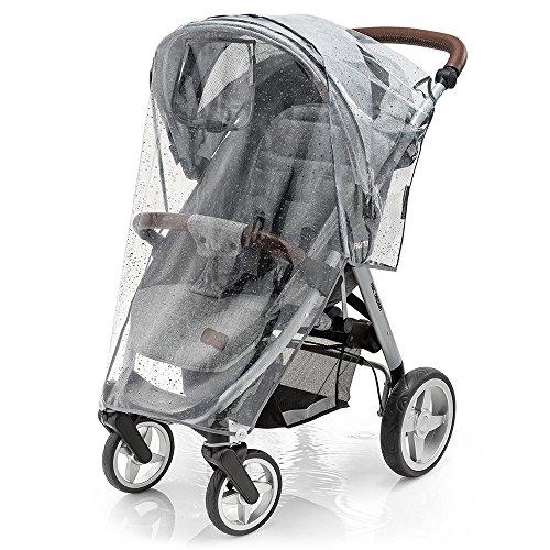 Foto de Protector de lluvia universal para silla de paseo, buena circulación del aire, ventana de contacto, fácil montaje en cualquier cochecito, sin PVC