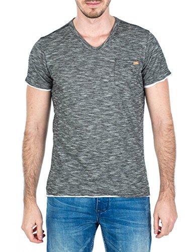 M.O.D Herren T-Shirt SP15-TS707-1 Schwarz (Black melange 717)