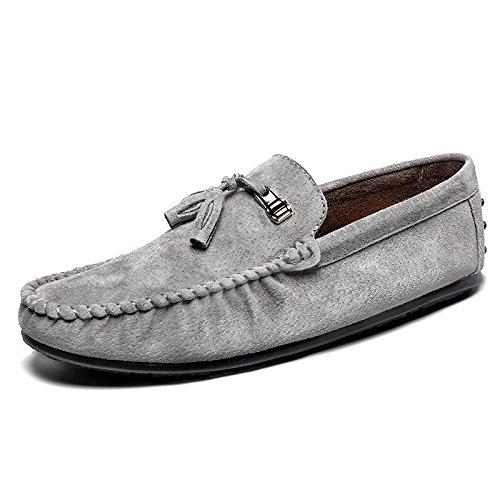 LHomme conduisant la voiture Patins Chaussures Casual Chaussures Casual classique de haute qualité gray