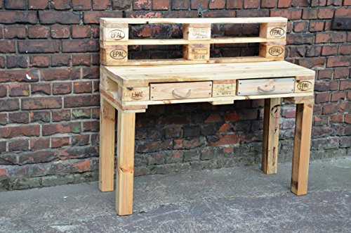 Schreibtisch selber bauen paletten  Schreibtisch 120 x 47 x 75 aus EURO-Paletten (ähnlich ...