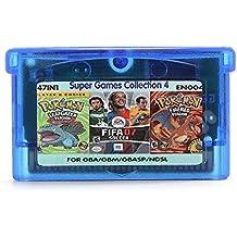 Rishil World 47 In 1 English Game Cartridges Pokeman FIFA 07 Rockman Soccer For GBA Game Console