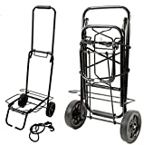 STL-247-CAMPING-L-TROLLEY Stalwart P-62146 Camping and Festival Trolley, Black