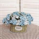 xgruisi En La Olla Decoración para El Hogar Jarrón De Cerámica Flor Decorativa Orquídea Y Florero DIY Jardín @ Azul Oscuro