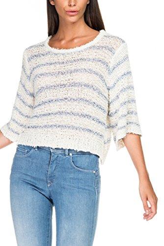 Salsa - Pull en tricot à rauyeres - Femme Bleu