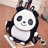 KOSBON-Sac--dos-mignon-Panda-et-Elephant-Backpack-Sacs-en-cuir-PU-Leather-School-White-Panda